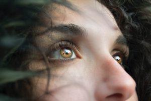 close up of girls nose